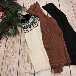 Women's Chunky Knit Turtleneck Sweater Bundle Lot